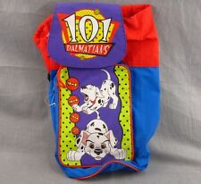 "101 Dalmatians Dufflebag Vintage Walt Disney Tote Duffle Bag Case 10x16"" Bookbag"