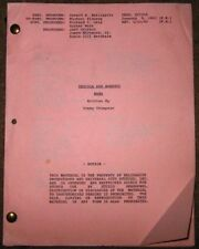 """TV Script """"Tequila and Bonetti: Mama"""" by Tommy Thompson 1992"""