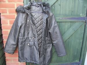 From Pep & Co Ladies Dark Green Hooded Coat Size 16