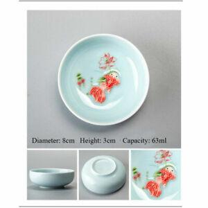 Chinese Tea Cups Porcelain Celadon Fish Teacup Set Loose Leaf Teapot Drinkware