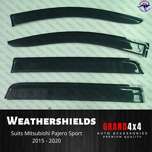 Weathershields Window Visors to suit Mitsubishi Pajero Sport QE QF 2015-2020