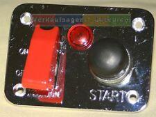 Schaltpanel mit Starterknopf, Kontrollleuchte und Notausschalter