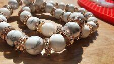 10 mm Stone Bead Bracelets. Great gift idea. 19-20cm...