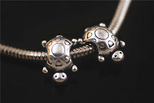 20pcs Silver Metal Big Hole Spacer Beads Fit European Bracelet Beads 10x14.5mm