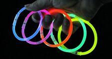 50 Braccialetti Luminosi Fluorescenti Glow Stick, Colori Misti