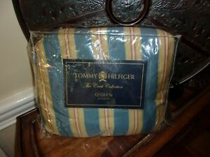 New Tommy Hilfiger East End Striped Queen Bedskirt