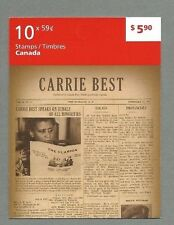 CANADA 2011 Folded Booklet - CARRIE BEST  - 10 @ 59c - Complete - MNH