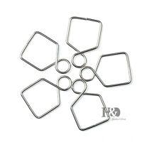 500 Silver Pins Connectors Chandelier Lamp Light Crystal Prisms Part 20mm