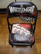Roman Reigns, Paige, Nikki & Brie Bella WrestleMania 31 Signed Chair PSA AA57951