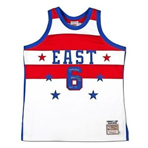 Julius Erving Signed Auto Mitchell & Ness 1980 All-Star Jersey 76ers #/25 UDA