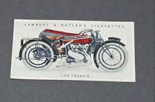 CIGARETTES LAMBERT BUTLER CARD MOTOR CYCLES 1923 N°27 LEA-FRANCIS MOTO