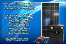 Solar Hybrid Generator Emergency+UPS Power+Solar Panel (5200w of Production)