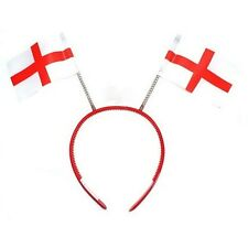 ENGLAND ST GEORGE FLAG HEAD BOPPER HEADBAND RED AND WHITE SUPPORTERS EURO'S 2016