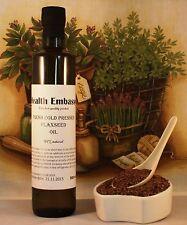 Fresh prensado en frío linaza, aceite de linaza 500ml-salud Embajada