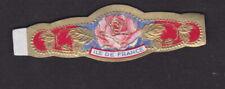 Ancienne  Bague de Cigare Vitola BN118351 Fleur Rose Ile de France