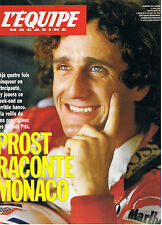 L'EQUIPE MAGAZINE N°496 formule 1 prost raconte monaco maradona cantona