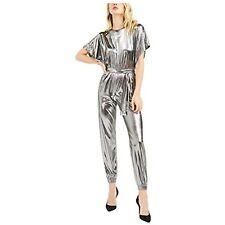 MSRP $155 Michael Kors Womens Metallic Dolman Jumpsuit Size Large