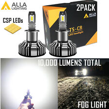 Alla Lighting H3 Super Bright LED Fog Light Driving Bulb Replacement White Lamp