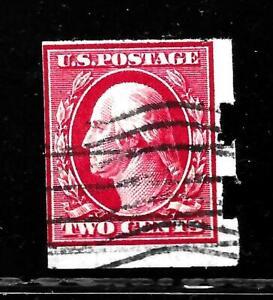 HICK GIRL-OLD USED  U.S. SC#384  WASHINGTON, SCHERMACK PERF.    X2520