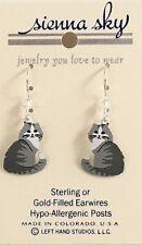 New Gray Grey Long Hair Cat Kitten Dangle Earrings Sienna Sky Usa