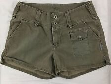 Silver Jeans Western Glove Works Women's Olive Cotton Shorts Size 29