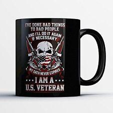 US Veteran Coffee Mug - I'd Do It All Again - Funny 11 oz Black Ceramic Tea Cup