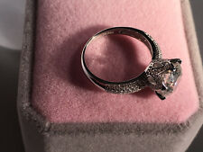 3 CT Round Cut D/VS2 Diamond Engagement Ring 18k White Gold Finish Size 7.5