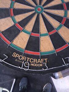 Sportcraft Pub Master Dart Board wire numbers Nodor Vintage British Made