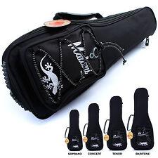 Deluxe Ukulele Gig Bag: 10mm Padded Soft Carry Case for Uke: 4 different sizes