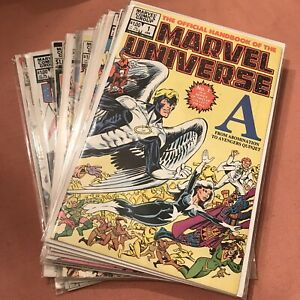 Official Handbook Of The Marvel Universe 1982 1-15 Complete Full Run plus Update