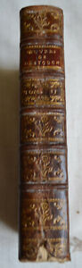 1763 Oeuvres De Monsieur Destouches Tome 3 Et 4 Cuir Theatre Honnete Friponne