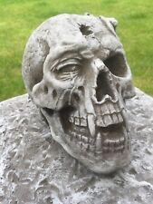 Steinguss Totenkopf Steinfiguren Schädel Garten Deko Gothik