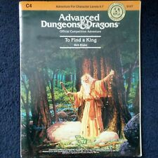 C4 para encontrar un rey Advanced Dungeons & Dragons Aventura módulo D&D RPG TSR 9107