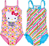 Girls New Hello Kitty Swimming Costume Swimsuit Swimwear Official Age 4-10 Years