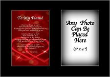 To My Fiance Poem Personalised with ANY PHOTO Birthday Fathers Christmas Gift