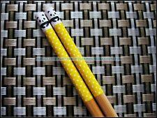 Chinese Japanese Traditional Chopsticks - Cute Panda - Yellow