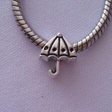 Silver Tone Umbrella Dangle Bead for Silver European Style Charm Bracelet