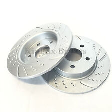 FOR FORD FOCUS MK3 2.0 ST REAR DIMPLED GROOVED PERFORMANCE BRAKE DISCS 271m