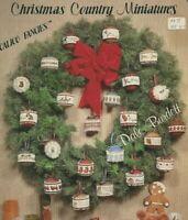 Christmas Country Miniatures Cross Stitch Pattern Dale Burdett 1983 (36 yrs)