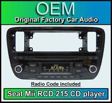 Seat Mii car stereo, Seat RCD 215 CD MP3 player headunit with radio code