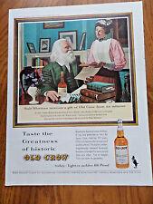 1962 Old Crow Whiskey Ad Walt Whitman