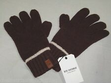 BNWT - BEN SHERMAN Knitted Wool Blend Winter Gloves  Burgundy Medium