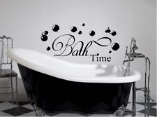 """Bathtime bathroom washroom vinyl Wall Decal Sticker Inspirational 14"""" x 16"""""""