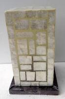 Lampada da tavolo in resina madreperla stile anni 70 cm 28hx17x17  1 abat-jour A