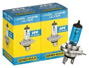 2x BREHMA H4 Xenon Look Optik Autolampe 5000K 60/55W Xenon Look HID Super weiss