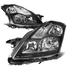 Fit 2007-2009 Nissan Altima Pair Black Housing Clear Corner Headlight/Lamp Set