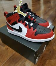 🔥Nike Air Jordan 1 MID (PS) Chicago Black Toe(640734-069)Sz 2Y🔥 In Hand