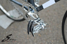Mit Bicycle Chrome Molly Pedals Sealed Bearing Leather Strap Fixed Gear Classic