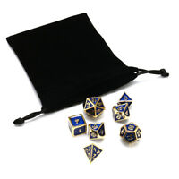 New 7Pcs/Set Metal Polyhedral Dice DND RPG MTG Role Playing and Tabletop Games