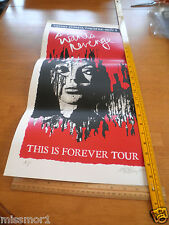 """She Wants Revenge This is Forever Tour poster signed Mark Berry AP 12x24"""" 2007"""